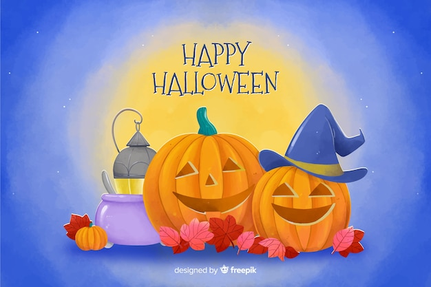 Tło w stylu akwarela na halloween