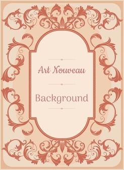 Tło w stylu art nouveau