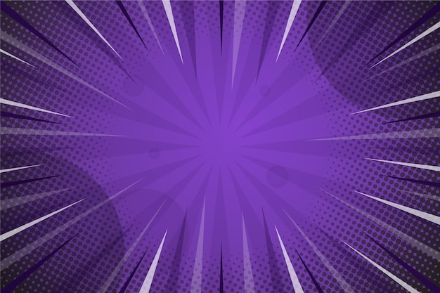 Tło w stylu komiksu w kolorze ciemnego fioletu