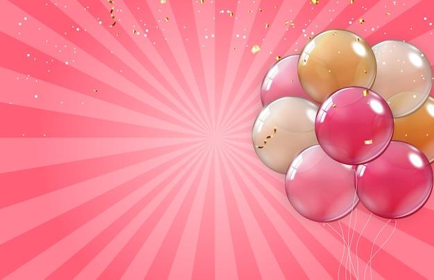 Tło wakacje z balonami
