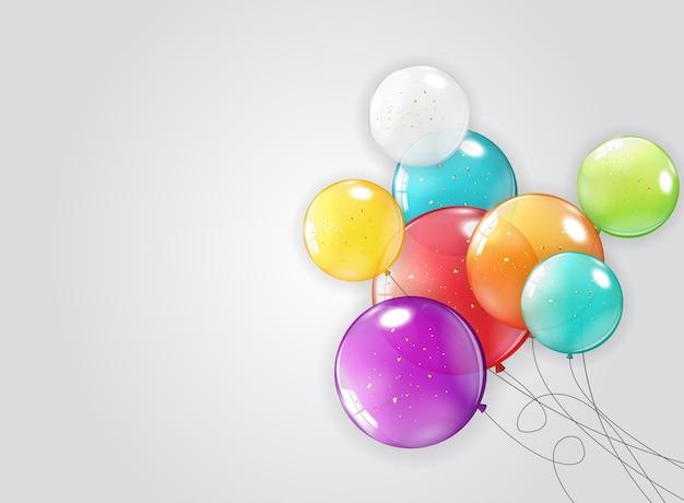 Tło wakacje z balonami.