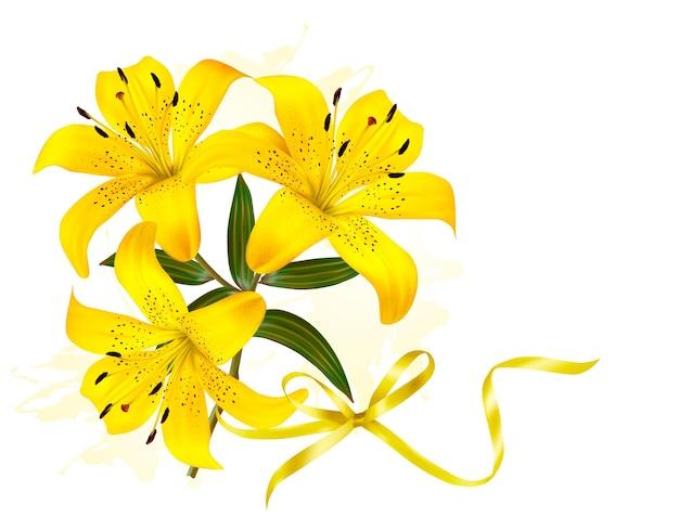 Tło wakacje żółte kwiaty.