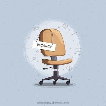 Tło wakat pracy z krzesłem