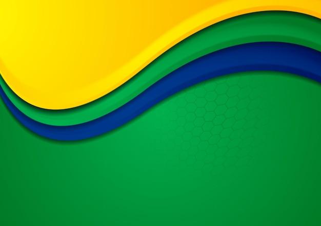 Tło wektor gier sportowych w brazylijskich kolorach