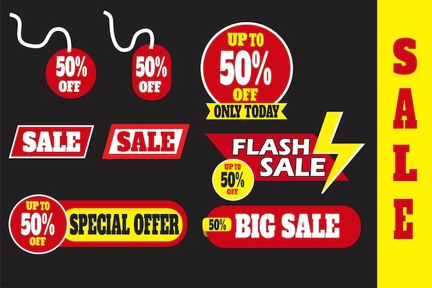 Tło Wektor Ilustracja Różnych Banerów Do Sprzedaży I Marketingu Ze Zniżką Premium Wektorów