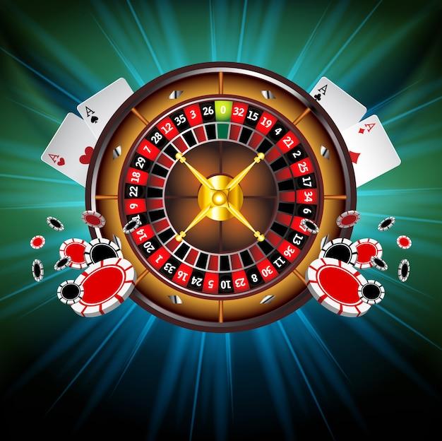 Tło wektor kasyna