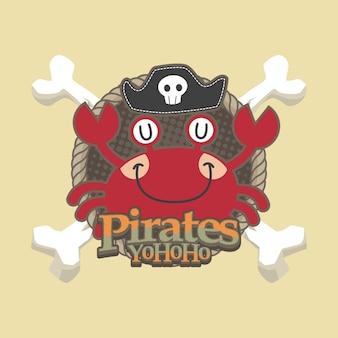 Tło wektor ładny piraci kreskówka