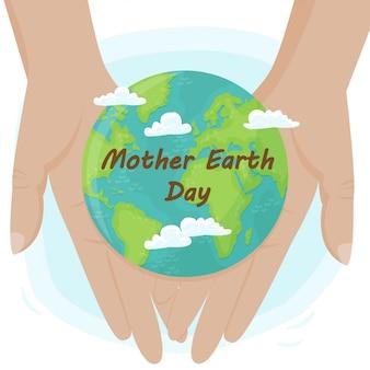 Tło wektor na międzynarodowy dzień ziemi