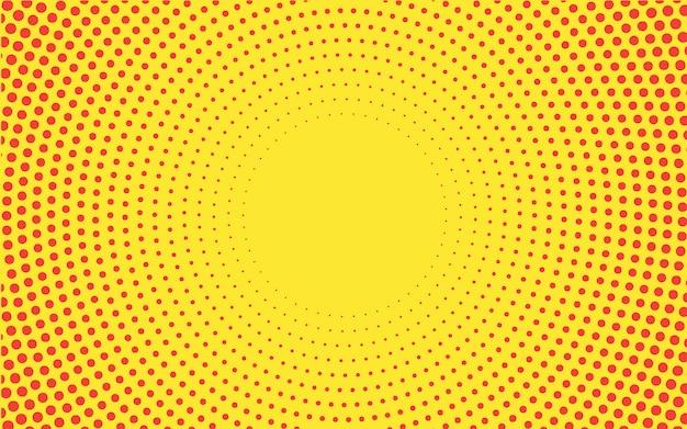Tło wektor półtonów gradientu żółty