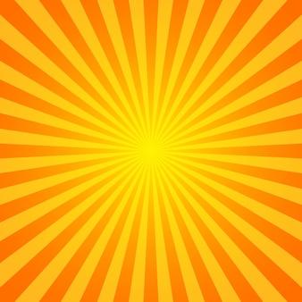Tło wektor sunburst. styl vintage sunburst. żółte promienie wektorowe.