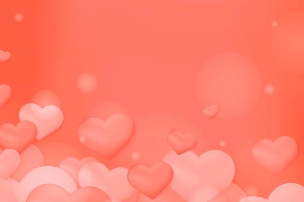 Tło wektor wzór bańki serca