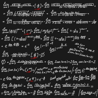 Tło wektor z białymi symbolami matematycznymi na tablicy