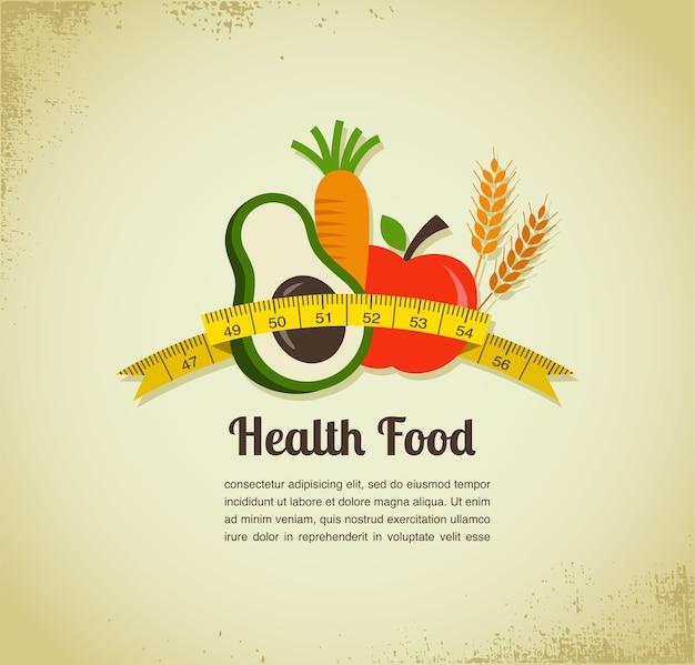 Tło wektor zdrowej żywności