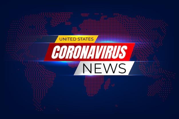 Tło wiadomości koronawirusa usa