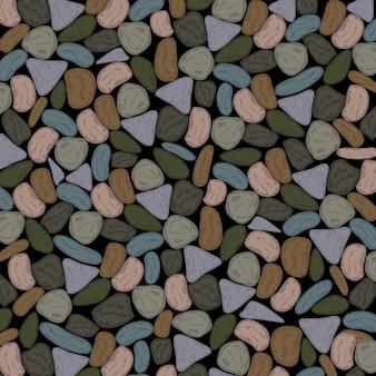 Tło wielokolorowe pebbles w tępe grenish szare tony