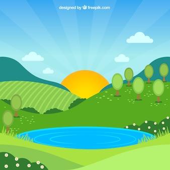 Tło wiosna krajobraz