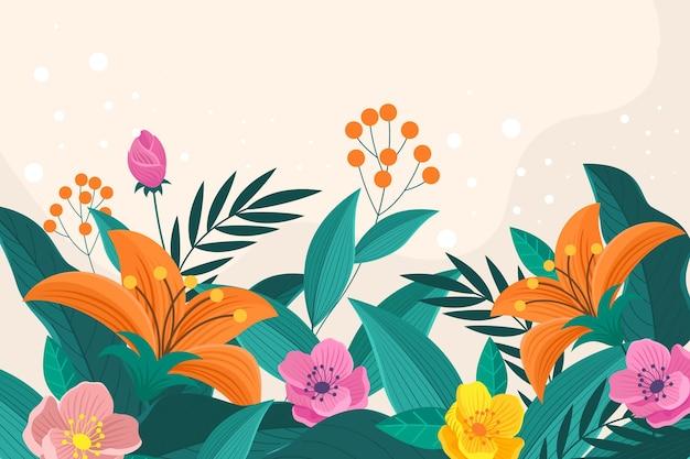 Tło wiosna płaski kreatywnych