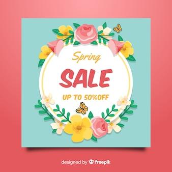 Tło wiosna sprzedaży ramki