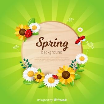 Tło wiosna sunburst