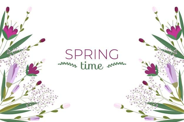 Tło wiosna w płaska konstrukcja