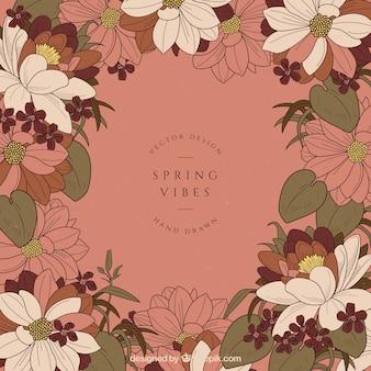Tło wiosna w stylu vintage
