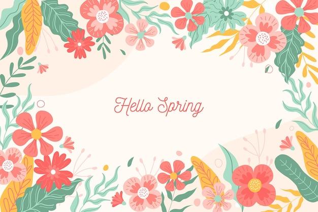 Tło wiosna z kwiatami