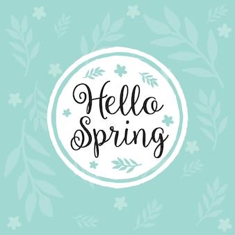 Tło wiosna z kwiatami.