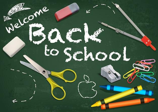 Tło witamy z powrotem do szkoły
