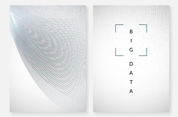 Tło wizualizacji. technologia dla dużych zbiorów danych, sztucznej inteligencji, głębokiego uczenia i obliczeń kwantowych. szablon projektu dla koncepcji interfejsu. nowoczesne tło wizualizacji.
