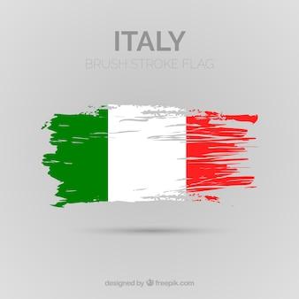 Tło włoskiej flagi