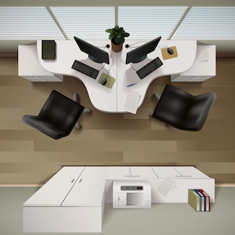 Tło wnętrze biura
