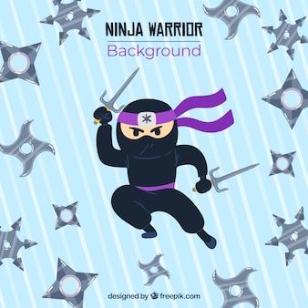 Tło wojownik ninja
