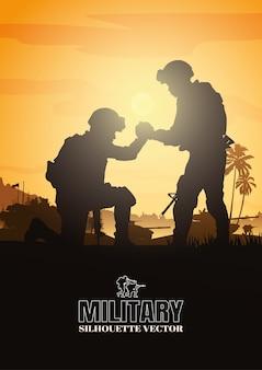 Tło wojskowe, wojskowe.