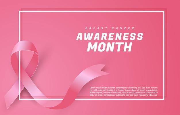 Tło wstążka świadomości raka piersi