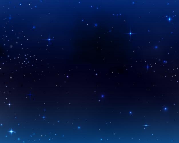 Tło, wszechświat galaktyki, niebo ciemnoniebieskie tło z gwiazdami i mgławicą kosmosu.