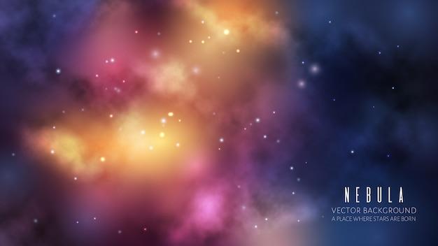 Tło wszechświata kosmicznego