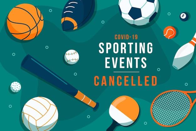 Tło wydarzenia sportowego anulowane