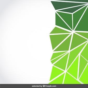 Tło wykonane z zielonymi trójkątami