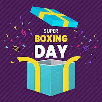 Tło wyprzedaży w boxing day dla postu w mediach społecznościowych