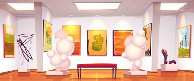 Tło wystawy sztuki w galerii sztuki