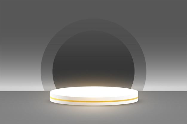 Tło wyświetlacza podium produktu w kolorze szarym