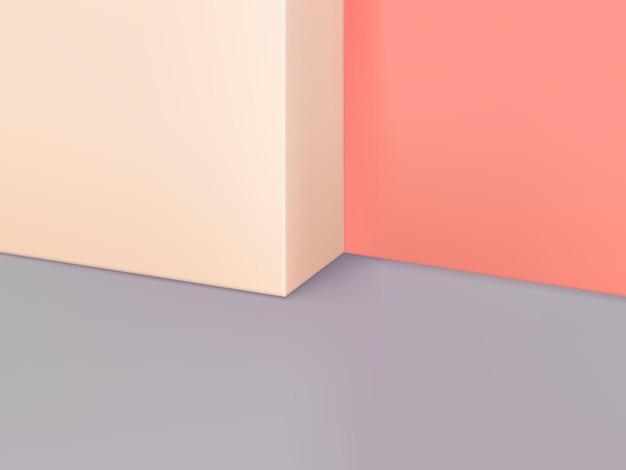 Tło wyświetlacza produktu z pastelową ścianą lub narożnikiem