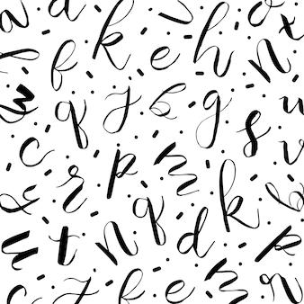 Tło wzór alfabetu memphis