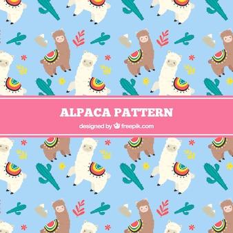 Tło wzór alpaki