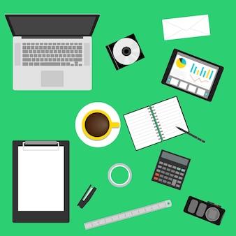 Tło wzór graficzny organizacji pracy w stylu płaski