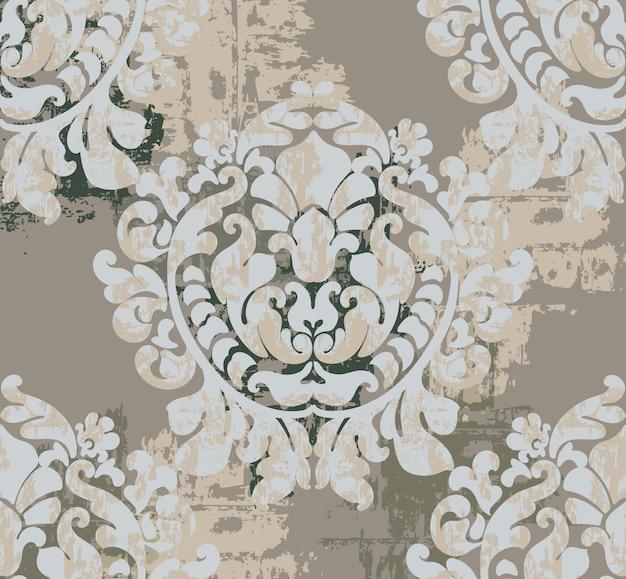 Tło wzór klasycznej dekoracji. barokowy design