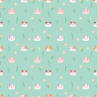 Tło wzór ładny kot