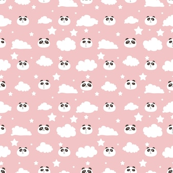 Tło wzór ładny panda