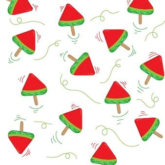Tło wzór lodów arbuzowych