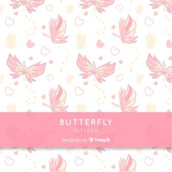 Tło wzór motyla